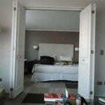 vista do quarto, a partir da sala de estar