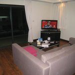 living room with flatscreen