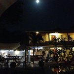 Night view from pool side
