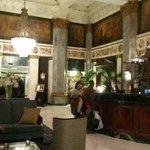 ornate hotel lobby