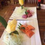 Sashimi de salmón y de atún. Delicioso!!!!