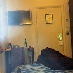 from bed looking at door