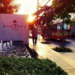 Bangkok sunrise from Sukosol Hotel entrance