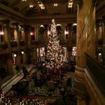 The Jefferson decorated for the Christmas holiday