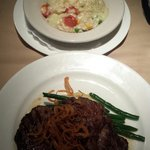 Risotto and Ribeye. Both very good.