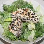 Ceaser's Salad with sesame crusted fish
