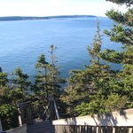 Bass Harbor Head Lighthouse pathway to the ocean
