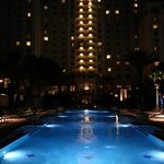 Omni Resort at night by poolside