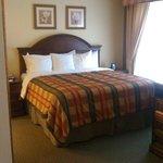 Bedroom area in suite.