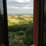 View of Tuscan countryside from Santa Caterina Annex