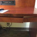 The broken desk drawer.