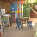 Guest kitchen/hangout area
