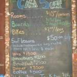 Prices at Casa Surf