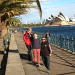 Family day with a view of the Opera House