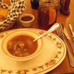 Choice soup or salad