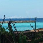 View of smoking Rubbish Island