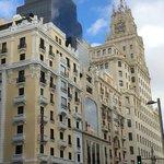 Hotel Petit Italia from outside on beautiful steet Gran Via