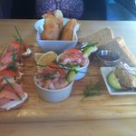 Seafood starter to share is exquisite