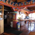 Glimpse of kitchen