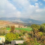 View from the room of Hula valley and Mount Hermon - Feb 2014 taken with ProHDR