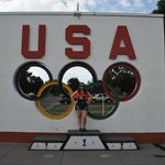 Me in front of the USA sign.