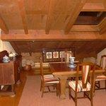 detalles del salón de la suite
