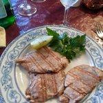 Filetto di maiale alla griglia con patate