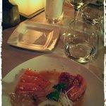 Tartare di tonno con carpaccio di salmone e branzino