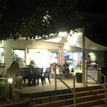 The cool of a Noosaville evening under the awnings at Red Emperor