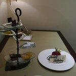 Complimentary Birthday cake and chocolates