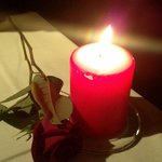 rose, candle