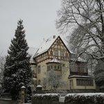 Hotel-Garni Hornburg in January snow