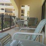 Enormous balcony--like having an extra room!