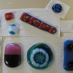 Student work from the glass fusing class