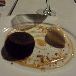 Moelleux au chocolat glace au caramel salé une tuerie !!