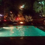 Fire by the pool - so old world Hollywood