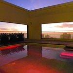 Rooftop pool area - stunning sunset views