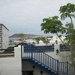 vue de la chambre sur la marina