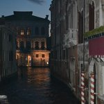 One of the smaller canals at night