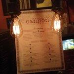 Retro lighting with our menu