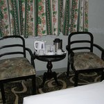 Table, Chairs and Tea & Coffee facilities