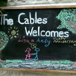 The beautifully personalised welcome sign