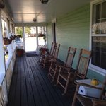 Rocking chairs on the wraparound porch