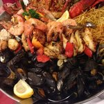 Mixed seafood platter for 2