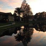 Sunset over Liki Tiki lagoon