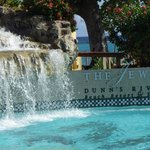 This is at the foot of the Dunn's Falls model in the centre of the resort