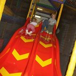 Smaller slide in the toddler area to give them the same fun as the bigger ones :)