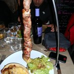 La potence viande de boeuf viande de canard et son gratin maison