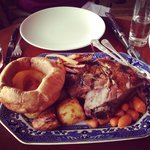 Braised lamb Sunday sharer with an extra Yorkshire pudding