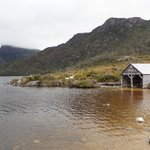 Lake and boatshed